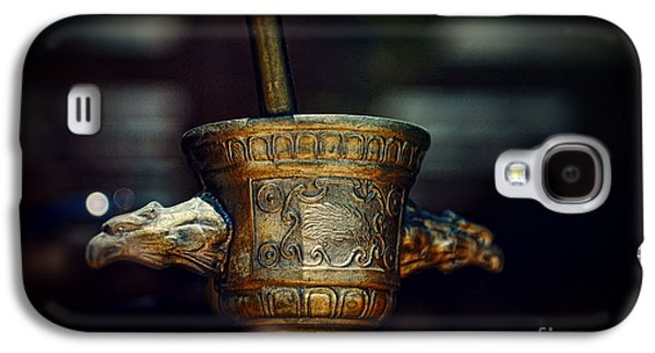 Old Grinders Galaxy S4 Cases - Pharmacy Brass Mortar and Pestle with Eagle Handles Galaxy S4 Case by Paul Ward