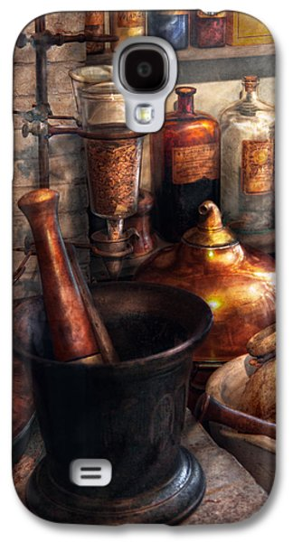 Personalize Galaxy S4 Cases - Pharmacy - Pestle - Pharmacology Galaxy S4 Case by Mike Savad