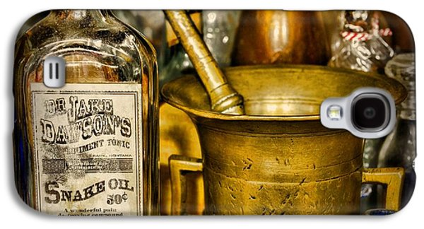 Old Grinders Galaxy S4 Cases - Pharmacy - Snake Oil -Dr. Jake Dawson Galaxy S4 Case by Paul Ward