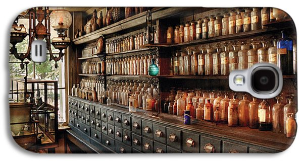 Medicine Photographs Galaxy S4 Cases - Pharmacy - So many drawers and bottles Galaxy S4 Case by Mike Savad