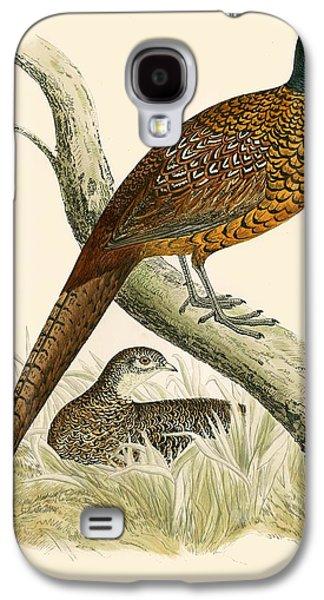 Pheasant Galaxy S4 Case by Beverley R Morris