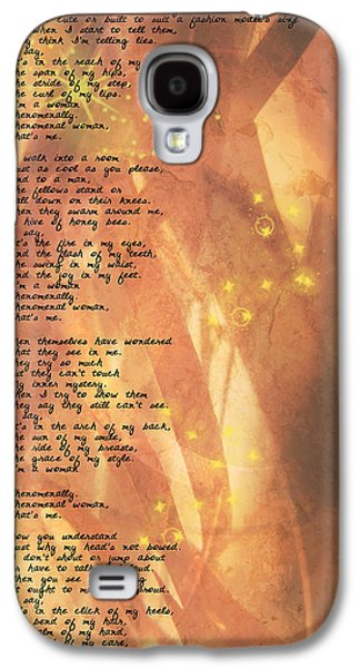 Uplifting  Galaxy S4 Cases - Phenomenal Woman Galaxy S4 Case by Paulette B Wright