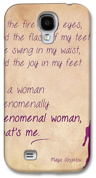African-american Drawings Galaxy S4 Cases - Phenomenal Woman Quotes 2 Galaxy S4 Case by Nishanth Gopinathan