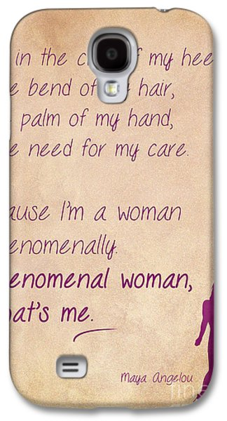 African-american Drawings Galaxy S4 Cases - Phenomenal Woman Quotes 4 Galaxy S4 Case by Nishanth Gopinathan