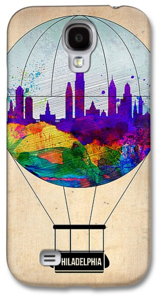 Balloons Galaxy S4 Cases - Philadelphia Air Balloon Galaxy S4 Case by Naxart Studio
