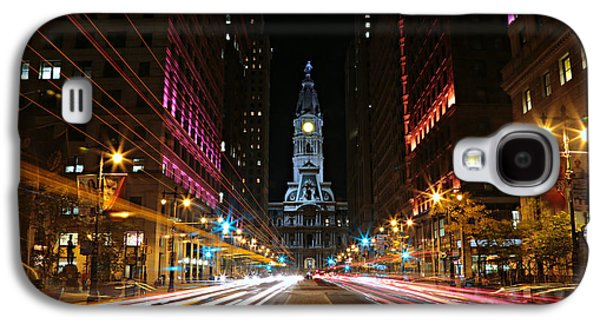 Landmarks Photographs Galaxy S4 Cases - Philadelphia City Hall -- Night Galaxy S4 Case by Stephen Stookey