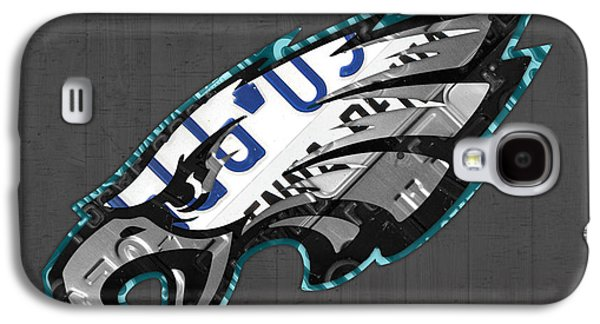 Eagle Mixed Media Galaxy S4 Cases - Philadelphia Eagles Football Team Retro Logo Pennsylvania License Plate Art Galaxy S4 Case by Design Turnpike