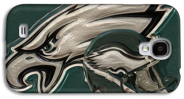 Pro Football Galaxy S4 Cases - Philadelphia Eagles Galaxy S4 Case by Jack Zulli