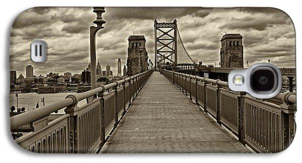 Philadelphia From Ben Franklin Bridge 1 Galaxy S4 Case by Jack Paolini
