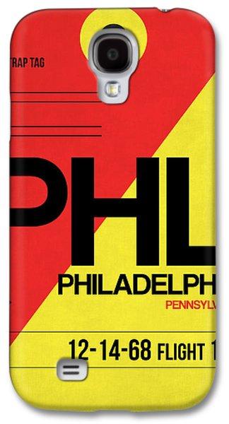 Metropolitan Galaxy S4 Cases - Philadelphia Luggage Poster 2 Galaxy S4 Case by Naxart Studio