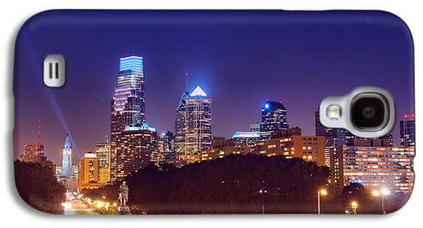 Phila Galaxy S4 Cases - Philadelphia Nightscape Galaxy S4 Case by Olivier Le Queinec