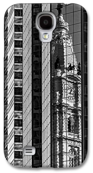 Philadelphia Reflections - Bw Galaxy S4 Case by Susan Candelario