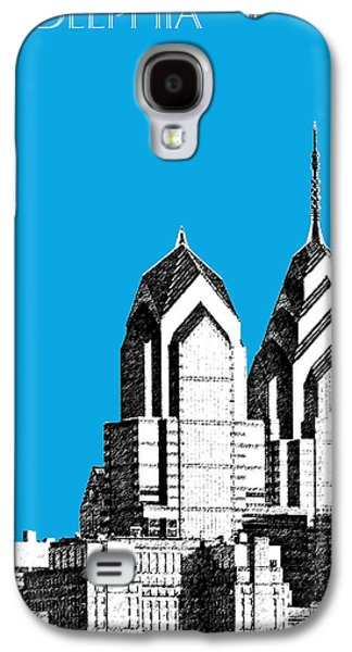 Philadelphia Skyline Liberty Place 1 - Ice Blue Galaxy S4 Case by DB Artist
