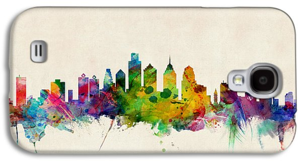 Cityscape Digital Galaxy S4 Cases - Philadelphia Skyline Galaxy S4 Case by Michael Tompsett
