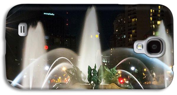 Downtown Franklin Galaxy S4 Cases - Philadelphia - Swann Fountain - Night Galaxy S4 Case by Bill Cannon