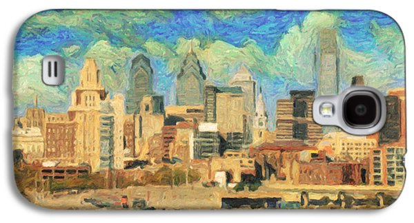 Phillies Paintings Galaxy S4 Cases - Philadelphia  Galaxy S4 Case by Taylan Soyturk