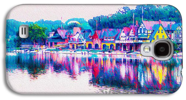 Philadelphia's Boathouse Row On The Schuylkill River Galaxy S4 Case by Bill Cannon