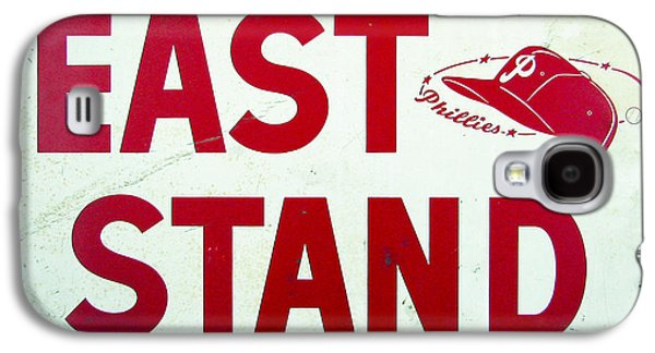 Philadelphia Phillies Stadium Galaxy S4 Cases - Phillies East Stand Sign - Connie Mack Stadium Galaxy S4 Case by Bill Cannon