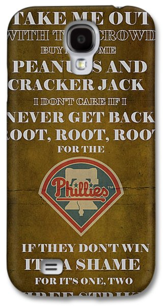 Phillies Art Galaxy S4 Cases - Phillies Peanuts and Cracker Jack  Galaxy S4 Case by Movie Poster Prints