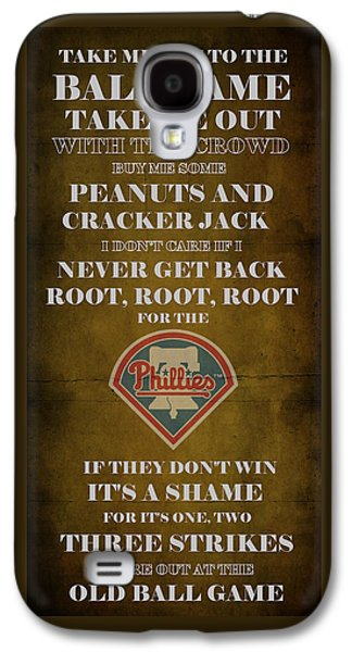 Phillies Digital Galaxy S4 Cases - Phillies Peanuts and Cracker Jack  Galaxy S4 Case by Movie Poster Prints