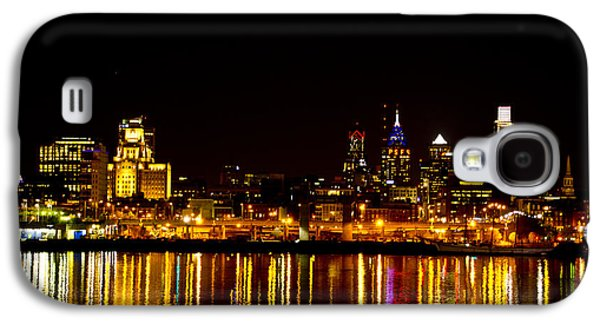 Phillies Digital Art Galaxy S4 Cases - Philly Nights Galaxy S4 Case by Bill Cannon