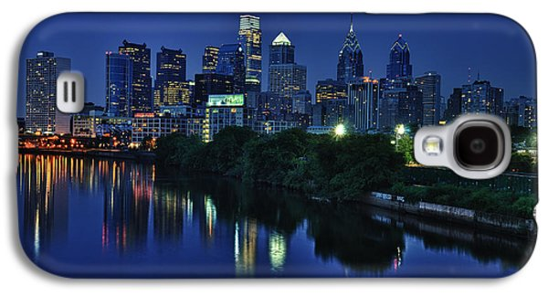 Urban Street Galaxy S4 Cases - Philly Skyline Galaxy S4 Case by Mark Fuller