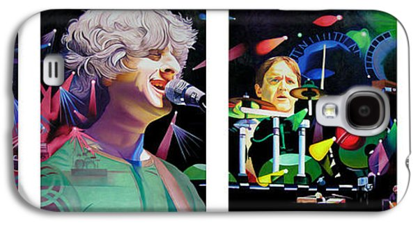 Musician Paintings Galaxy S4 Cases - Phish Full Band Galaxy S4 Case by Joshua Morton
