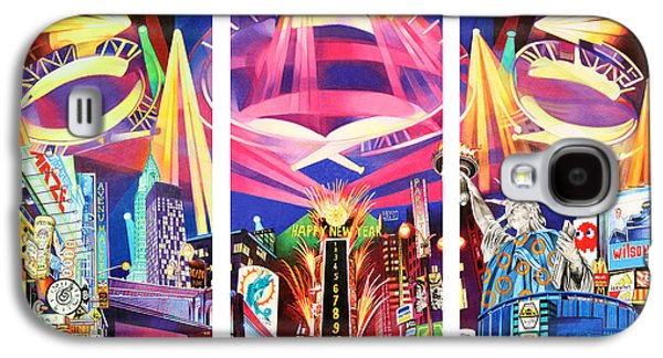 Phish New York For New Years Triptych Galaxy S4 Case by Joshua Morton