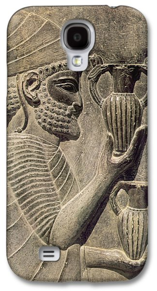 Relief Sculpture Galaxy S4 Cases - Phoenician Carrying Two Vases As An Offering, Detail Of The Relief Frieze On The East Stairway Galaxy S4 Case by Achaemenid