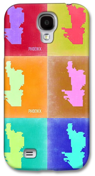Extinct And Mythical Digital Art Galaxy S4 Cases - Phoenix Pop Art Map 3 Galaxy S4 Case by Naxart Studio