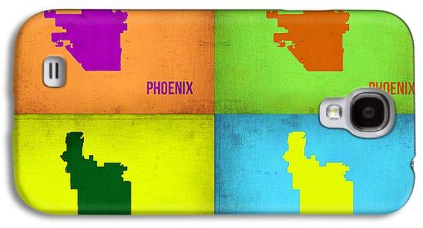 Phoenix Pop Art Map Galaxy S4 Case by Naxart Studio