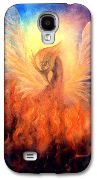 Resurrection Galaxy S4 Cases - Phoenix Rising Galaxy S4 Case by Marina Petro