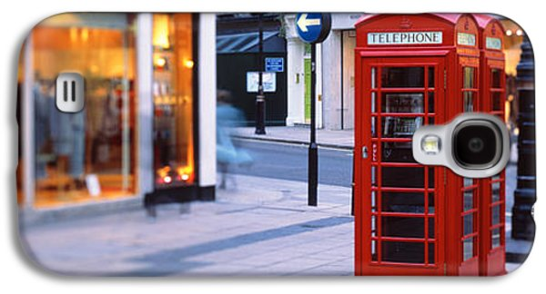 Concept Photographs Galaxy S4 Cases - Phone Booth, London, England, United Galaxy S4 Case by Panoramic Images