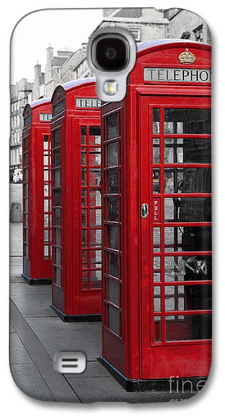 Connection Galaxy S4 Cases - Phone boxes on the Royal Mile Galaxy S4 Case by Jane Rix
