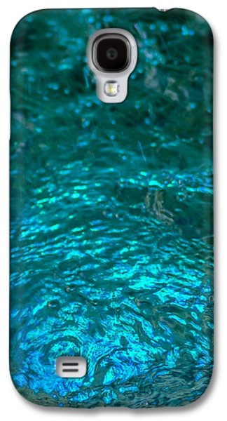 Mobile Designs Galaxy S4 Cases - Phone Case - Liquid Flame - Blue 1 - Featured 3 Galaxy S4 Case by Alexander Senin