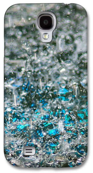 Mobile Designs Galaxy S4 Cases - Phone Case - Liquid Flame - Blue 2 Galaxy S4 Case by Alexander Senin