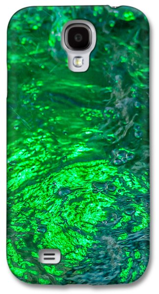 Mobile Designs Galaxy S4 Cases - Phone Case - Liquid Flame - Green 1 - Featured 3 Galaxy S4 Case by Alexander Senin