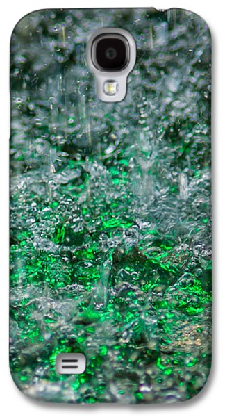 Effervescence Galaxy S4 Cases - Phone Case - Liquid Flame - Green 2 - Featured 2 Galaxy S4 Case by Alexander Senin
