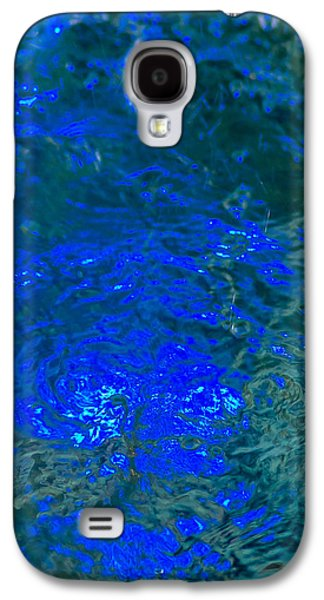 Mobile Designs Galaxy S4 Cases - Phone Case - Liquid Flame - Navy Blue 1 Galaxy S4 Case by Alexander Senin