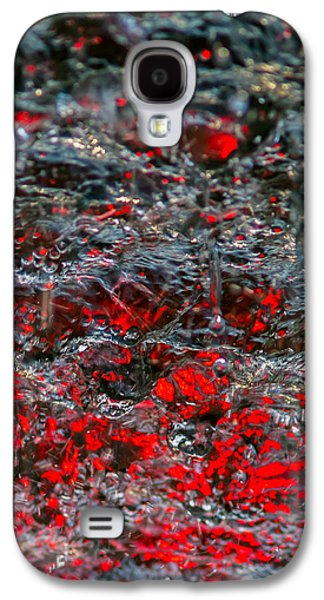 Mobile Designs Galaxy S4 Cases - Phone Case - Liquid Flame - Red 2 - Featured 3 Galaxy S4 Case by Alexander Senin