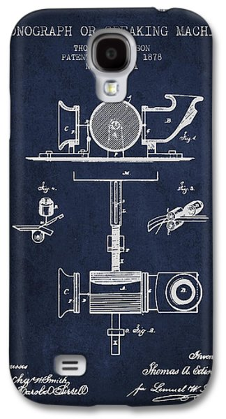Edison Galaxy S4 Cases - Phonograph or speaking machine patent Drawing from 1878 Galaxy S4 Case by Aged Pixel