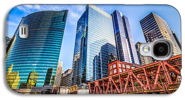 Photo Of Chicago Buildings At Lake Street Bridge Galaxy S4 Case by Paul Velgos