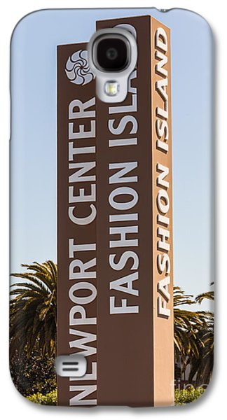 Upscale Galaxy S4 Cases - Photo of Fashion Island Sign in Newport Beach Galaxy S4 Case by Paul Velgos