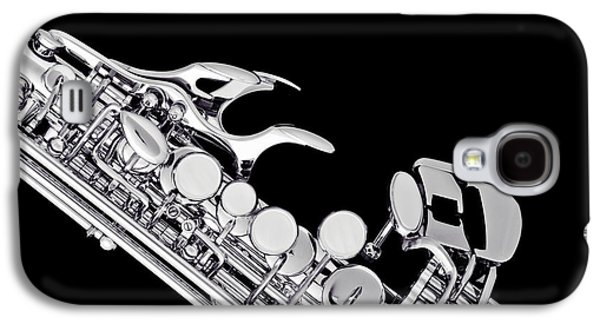 Photograph Of A Soprano Saxophone In Sepia 3342.01 Galaxy S4 Case by M K  Miller