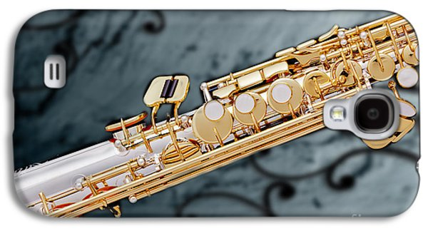 Soprano Galaxy S4 Cases - Photograph of Classic Soprano Saxophone 3349.02 Galaxy S4 Case by M K  Miller