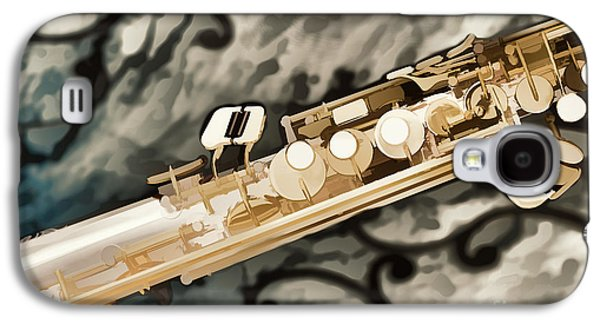 Soprano Galaxy S4 Cases - Photograph of Classic Soprano Saxophone painting 3348.02 Galaxy S4 Case by M K  Miller
