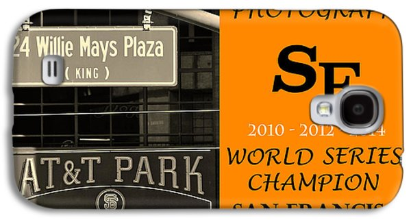 Sports Pyrography Galaxy S4 Cases - Photographs SF Giants Galaxy S4 Case by DUG Harpster