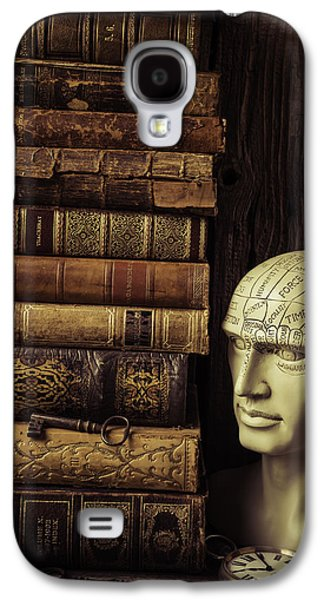 Phrenology Head And Old Books Galaxy S4 Case by Garry Gay
