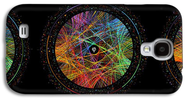 Celebration Galaxy S4 Cases - Pi Phi and e Transition Paths Galaxy S4 Case by Martin Krzywinski