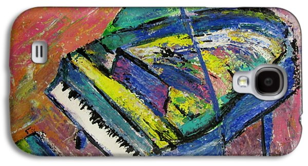 Piano Galaxy S4 Cases - Piano Blue Galaxy S4 Case by Anita Burgermeister